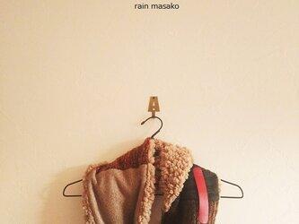 シープボアと暖色ウールのスヌード*N-4の画像