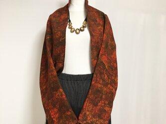 正絹反物 マーガレット ストール 長袖  羽織りもの 着物リメイク(15)の画像