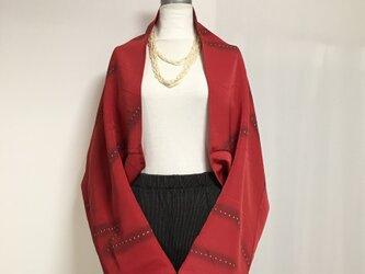 正絹反物 マーガレット ストール 長袖  羽織りもの 着物リメイク(14)の画像