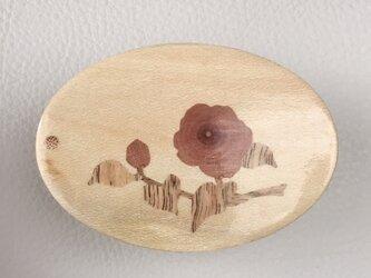木象嵌小箱 椿八重975の画像