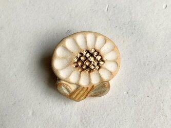 陶ブローチ ちいさな花#2の画像