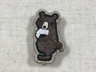 クマとおにぎりの画像
