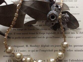 vintage cotton pearl & soufflé glassの画像