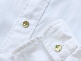 満月ボタン(真鍮製ボタン)11mm 5個セット きらきらの画像