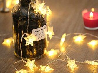 星のガーランドライト モビール星ランプ  クリスマス/誕生日/ウェディングの画像