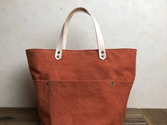 宅急便送料無料☆army duc round  bag M orangeの画像
