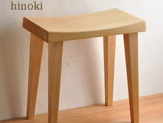 木製スツール ヒノキ の画像