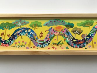 色鉛筆作品「ゆっくりゆっくり」の画像