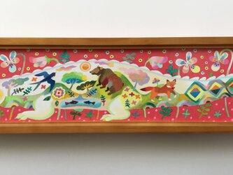 色鉛筆作品「ひとやすみ」の画像