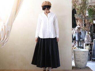 コードレーンロングスカート(黒ストライプ)【レディス】の画像