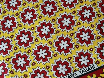 アフリカ布『カンガ』イエロー × レッドの画像