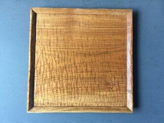 クルミの木の角盆の画像