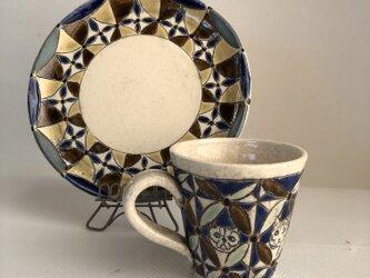 マグカップとお皿セットの画像
