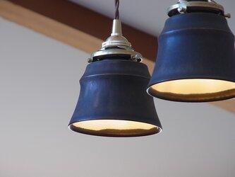 陶制ペンダントランプシェード 鳶茶色(灯具無し)の画像