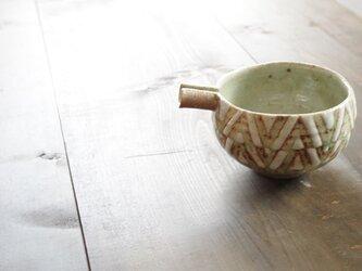 釉彩片口鉢(三角模様)の画像