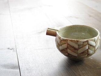 釉彩片口鉢(ヘリンボーン模様)の画像