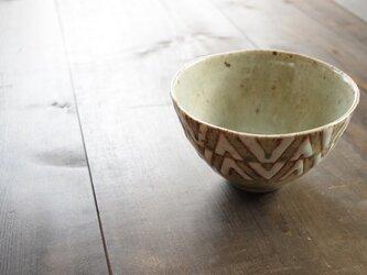 釉彩鉢(三角模様)の画像