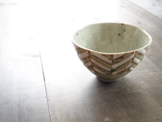 釉彩鉢(ヘリンボーン模様)の画像