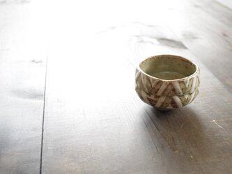 釉彩ぐい呑(三角模様) の画像