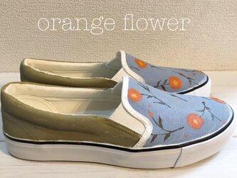 ペイントスリッポン 「orange  flower」の画像