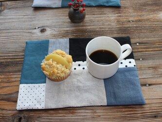 パッチワークのカフェマットの画像