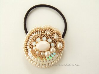 Hair accessory ビーズ刺繍 スパンコール(K0725)の画像