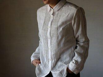 ピンタック袖レースシャツの画像