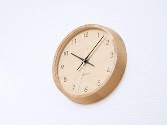 KATOMOKU muku round wall clock 7 km-83NRC ナチュラル シナ文字盤 電波時計 連続秒針の画像