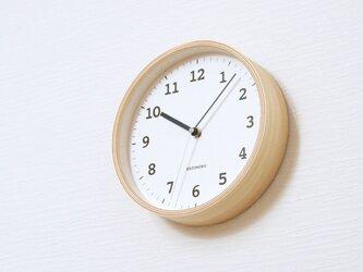KATOMOKU plywood wall clock 13 ナチュラル 電波時計 連続秒針 km-84NRCの画像