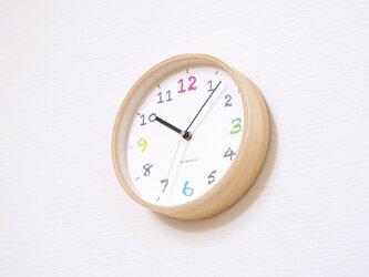 KATOMOKU plywood wall clock 14 ナチュラル 電波時計 連続秒針 km-85NRCの画像