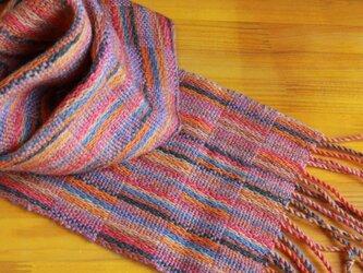 手織のマフラー 唐錦(からにしき)の画像