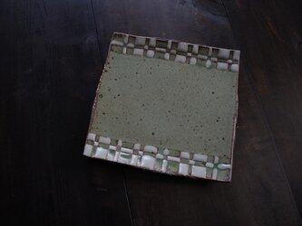 釉彩角皿(四角模様)の画像