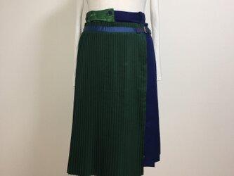 イレギュラーヘム プリーツスカートの画像