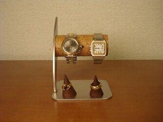 プレゼントに! リングスタンド付き腕時計スタン 男用パイプの画像