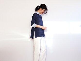 ◆即納◆Ursa[ウルサ] ボクシー・セーター8 / ネイビー・ブルー / Mサイズの画像
