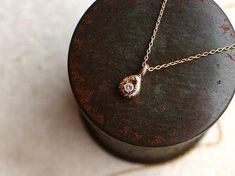 【送料無料】一粒 ダイヤモンド しずく型 ネックレス【n_k10_drop】の画像