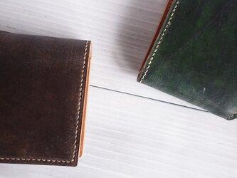 二つ折り財布 box-b【受注製作】の画像