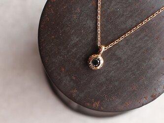 【送料無料】ブラックダイヤモンド 一粒 ネックレス【n_k14_00_0001b】の画像