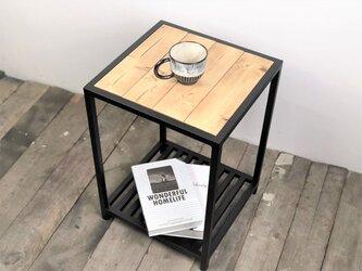 コーヒーテーブル・サイドテーブル【アイアンサイドテーブル/2段/Iron Side table】の画像