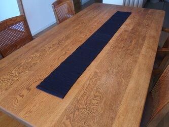 裂織 テーブルランナー 藍染  ☆送料無料【022】の画像