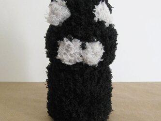ペットボトルカバー(350ml) ねこ ブラックの画像
