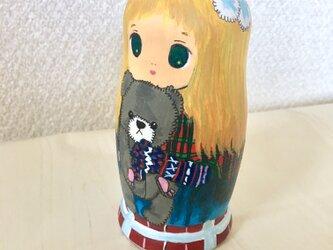 北欧少女とくまちゃん針山の画像