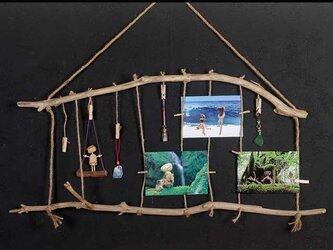 流木の小物掛け、アクセサリーハンガー、流木フォトフレームー44の画像