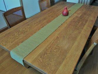 裂織 テーブルランナー 草木染   ☆送料無料【029】の画像