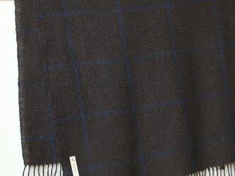 ホームスパン大判ストール ナチュラルブラックの画像