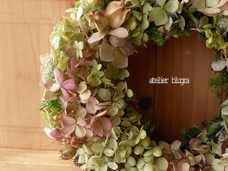 八ヶ岳〜3種紫陽花のWreathの画像