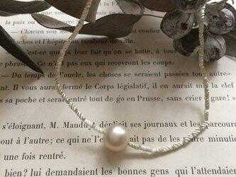 vintage glass pearl&soufflé glass necklaceの画像