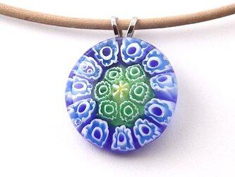 ミルフィオリ(青のブーケ)のネックレスの画像