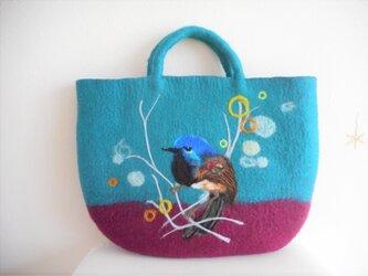 幸せを呼ぶ青い鳥 バッグの画像