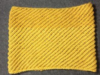 変わり編み腹巻の画像